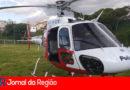 Helicóptero chega para combater fogo na Serra