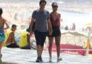 Maju curte a praia do Lebron no Rio