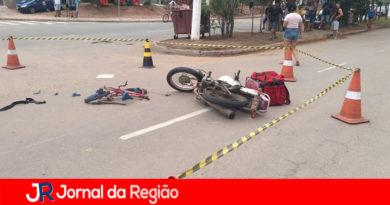 Criança fratura bacia e fêmur em colisão de bike contra moto