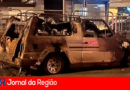 Carro pega fogo no bairro do Vianelo