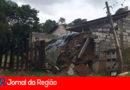 Muro de casa desaba com as chuvas no Caxambu