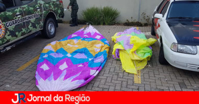 Guarda apreende balão no Jardim Guanabara