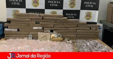 Polícia de Franco da Rocha apreende 100 Kg de drogas