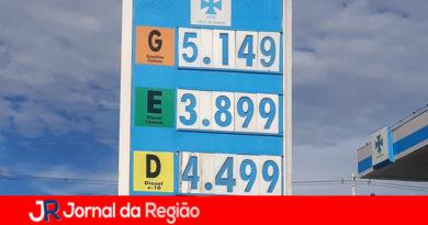 Gasolina passa dos R$ 5,00 em postos de Jundiaí