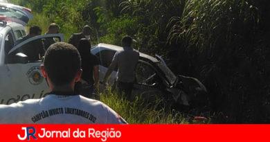 Ladrão de carro sofre acidente em Várzea Paulista