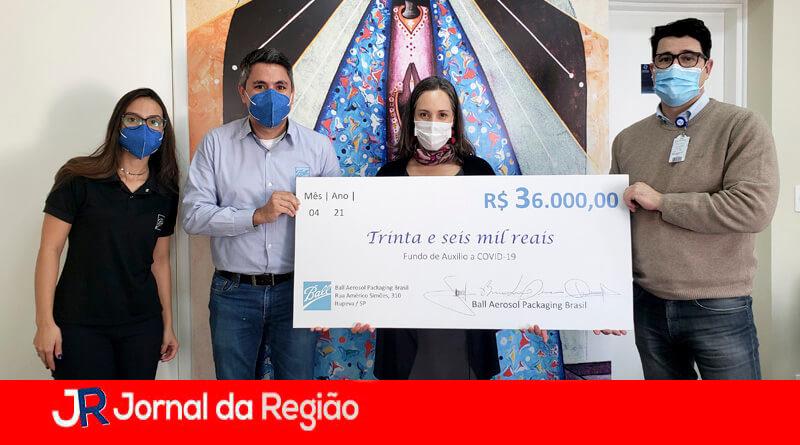 Hospital São Vicente recebe doação. (Foto: Divulgação)