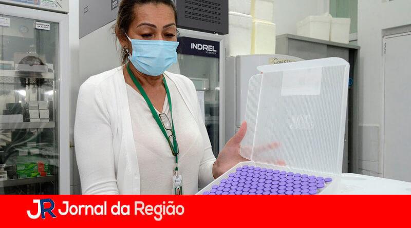 Vacinação Pfizer em Várzea Paulista. (Foto: Divulgação)