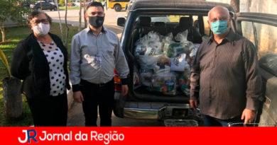 Supermercado Ricoy doa cestas básicas. (Foto: Divulgação)
