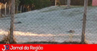 Só faltou a neve em Jundiaí. Parque ficou congelado