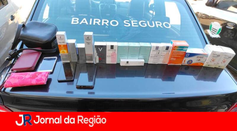 Produtos furtados. (Foto: Divulgação)