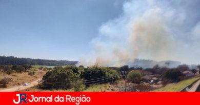 Horto Florestal tem queimada na tarde desta segunda