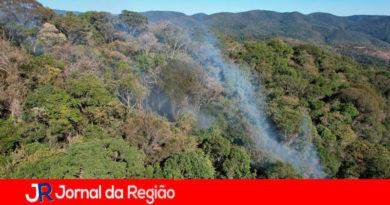 Incêndio na Serra do Japi. (Foto: Divulgação)