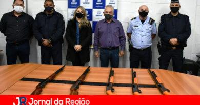 Guarda de Várzea recebe cinco espingardas calibre 12