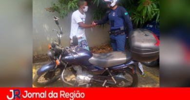 Guarda recupera moto furtada em Jundiaí