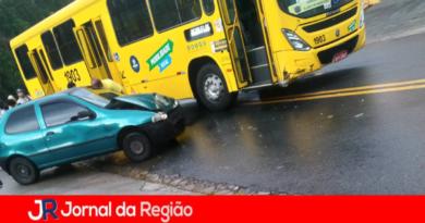 Carro e ônibus de envolvem em acidente na Vila Marlene