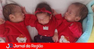 Trigêmeos recebem alta no Hospital Pitangueiras
