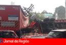 Acidente com caminhão da Coca-Cola causa interdições no Distrito Industrial