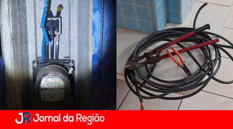 Furto de fios de cobre. (Foto: Divulgação)