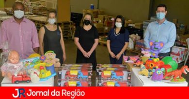Doação de brinquedos. (Foto: Divulgação)