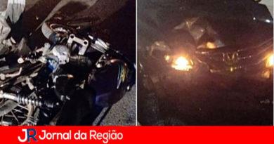 Motociclista sofre acidente grave em Louveira