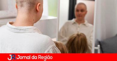 Doaação de cabelo em Jarinu. (Foto: Divulgação)