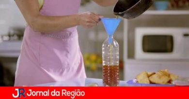 Reciclagem de óleo de cozinha. (Foto: Divulgação)